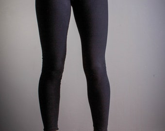 Black Leggings, Opaque Cotton ,Flattering Fit.