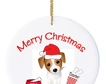 Personalized Christmas Ornaments Dog Jack Russell Christmas Ornament