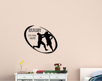 Rugby Wall Decal - Wall Sticker - Home Wall Decal - Office Wall Decor