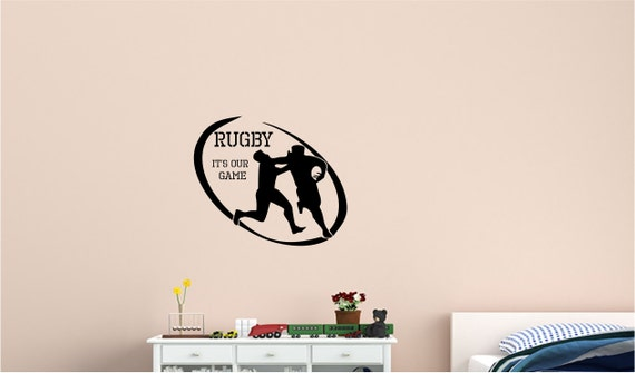 rugby wall decal wall sticker home wall decal office rugby badge wall art sticker wall decal