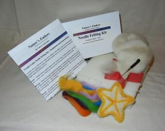 Star cookie cutter needle felting kit - DIY ormament kit