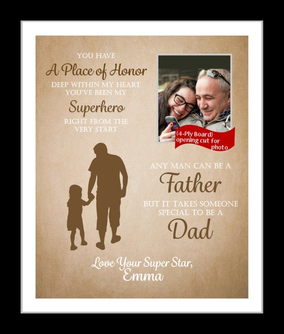 personalized father 39 s day present father and daughter by
