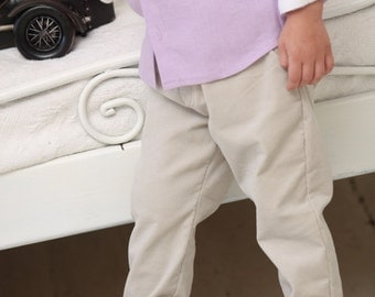 Boys pants Toddler boy trousers Tan corduroy pants Wedding party Baptism outfit Boys clothing