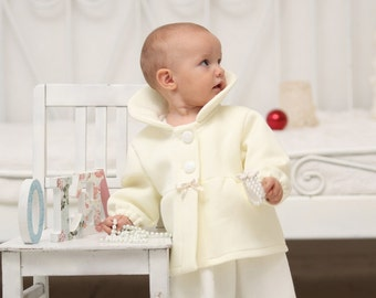 Baby girls coat Toddler girls sweatshirt jacket Baby girl christening baptism outfit Baby girls outfit Baby girls clothes