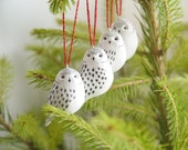 Mrs Snowy Owls - set of 4