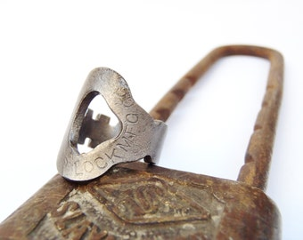 Antique Key Ring - Size 6 - Slaymaker Teardrop - Jewelry - Vintage - Handmade - Repurposed - Lancaster - Railroad
