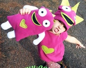 child's monster costume pink green  for baby and toddler