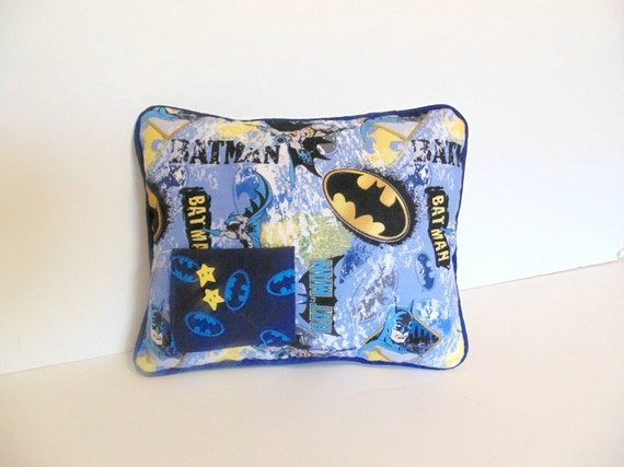 Custom Squishy Pillows : Personalized Batman Tooth Fairy Pillow Special by ToothFairyWorks