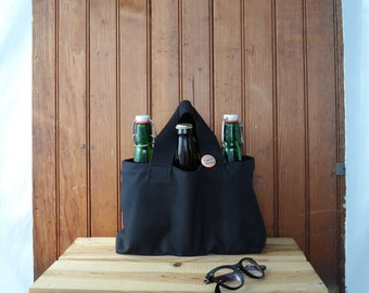 Beer Tote - Wine Bag - Homebrew Caddy - Bottle Bag - Canvas Tote - Craft Beer - Man gifts - Father's Day - Birthday -