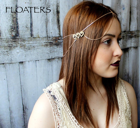 Etsy Chain Headpiece Coachella Chain Headpiece