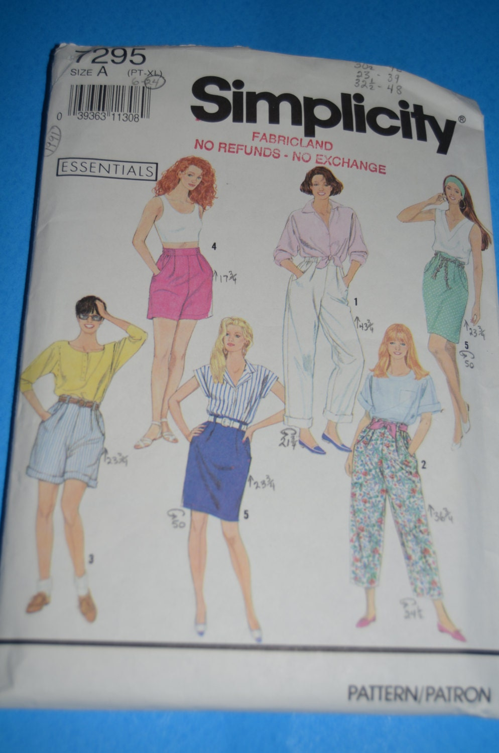 f73a18e4c25 Simplicity 7295 Misses Pants or Shorts each in two lengths and skirt Sewing  Pattern - UNCUT - Sizes Pt -XL from DestinedRendezvous on Etsy Studio