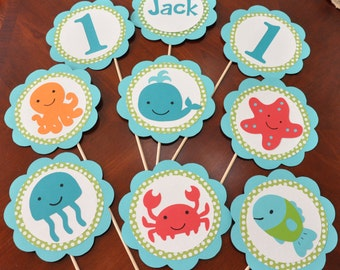 Under the Sea Birthday Party Decorations Set of 9 Under the Sea centerpiece
