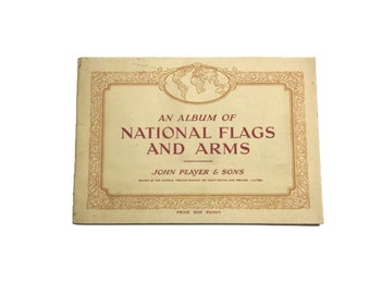 An Album of National Flags and Arms cigarette cards book John Player & Sons Countries USA Vatican Germany