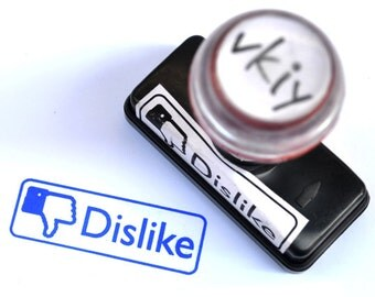 Facebook Dislike Self-Inking Rubber Stamp