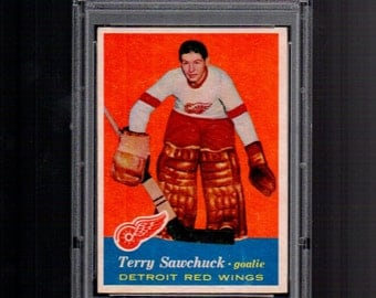Terry Sawchuk 1957 Topps   # 35 PSA 5 EX Red Wings