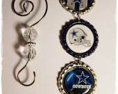 Dallas Cowboys Christmas bottle cap ornament Texas Football