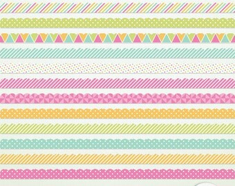 "Scalloped Borders - ""'Spring Fling"" - Clip Art ClipArt Scrapbooking CU Ok Instant DownloadPrintable G7555"