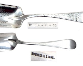 Antique American Sterling Silver Sugar Spoon Shovel.