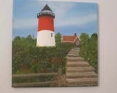 Cape Cod Lighthouse  Acrylic Painting