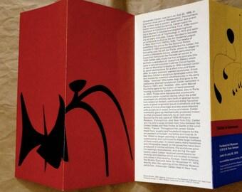 ALEXANDER CALDER BROCHURE Calder's Universe Comprehensive Exhibit Portland Art Museum Exhibition Organized by Whitney Museum New York 1978