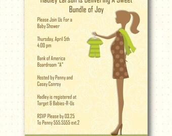 Baby Shower Invitation, baby, boy, girl, sprinkle, gender reveal, sip and see, digital, printable, invite B1443