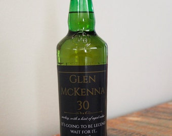 Glen McKenna 30 Year Scotch Label, How I Met Your Mother Scotch, Personalized Scotch Label, Going to be Legendary