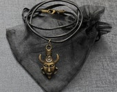 Supernatural Samulet necklace – Dean Winchester's protection amulet pendant on a leather cord – cosplay prop / Samulet replica