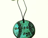 Baseball Ornament Personalized with Player's Number & Names - Team Spirit, Gifts for Baseball Players, Moms, Teens, Christmas Ornaments