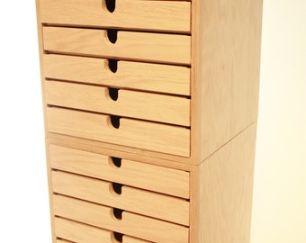 chest of drawers handmade 6 drawer wood chest knitting storage. Black Bedroom Furniture Sets. Home Design Ideas