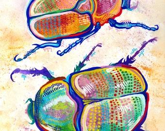 Beetles print - 8x10