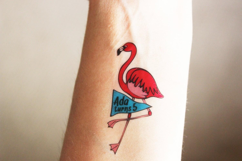 Custom temporary tattoos perfect party favors for a flamingo for Custom temp tattoos