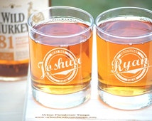 Groomsmen Gift Personalized Whiskey Glasses Wedding Groomsmen Gifts ANY QUANTITY Custom Rocks Glass Whiskey Engraved Glass Bar Glassware