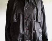 VIntage 1980s Black Brittania Jacket Size Mens Large or Womens XL