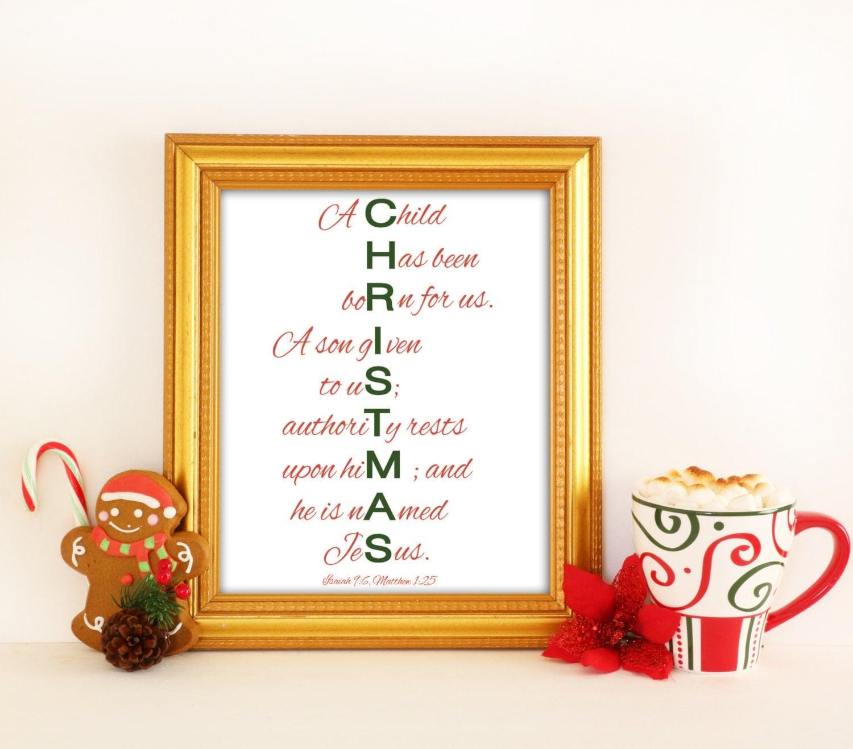 Christmas Decorations Religious: Christmas Printable Christian Christmas Decor By