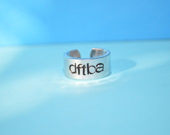 pre-made adjustable dftba ring