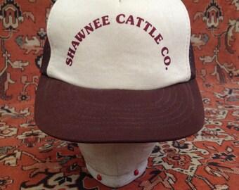 Vintage Shawnee Cattle Co. Trucker Hat