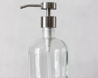 Recycled Glass Soap Dispensers with Fuente Stainless Steel Pump