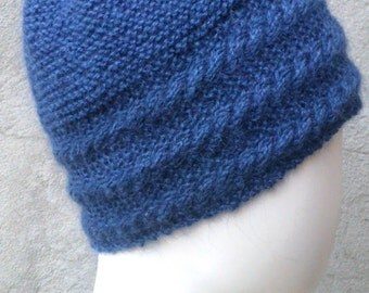 Knitting Pattern For Flat Hat : KNITTING PATTERN Seed stitch mittens instant download