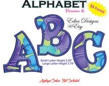 Applique Alphabet Machine Embroidery Designs BX Format Monogram Fonts Alphabet Applique Machine Embroidery Digital Download