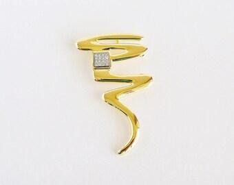 PARK LANE Golden Bolt Pin Pendant