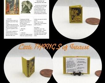 CYRANO de BERGERAC Miniature Book Dollhouse 1:12 Scale Readable Book