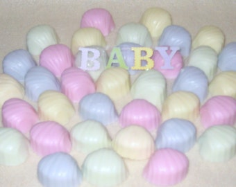 Baby Shower Favors-Baby Shower Soap Favors-Pink - Green- Blue-Yellow-Soap Shells-Small Soaps.