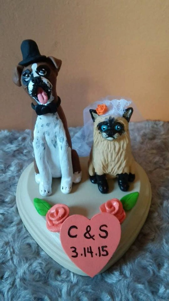 wedding cake toppers with dog and cat cat cake topper or cat and wedding cake topper custom made 26630