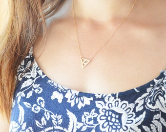 Delta Gold filled Triangle Necklace