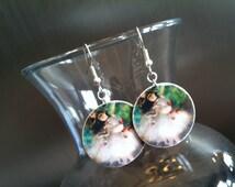 Degas Earrings (Lead and Nickel Free -- GREEN) Degas Jewelry - Ballet Earrings - Ballet Jewelry - Ballerina Earrings - Ballerina Jewerly