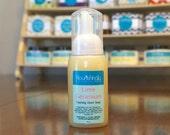 Vegan Soap, Foaming Hand Soap, Essential Oil Liquid Soap, Natural Lime Soap, Geranium Foaming Soap, Foaming Liquid Soap, Large Hand Soap