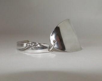 Silverware Bracelet -Silver Plated Spoon Bracelet - 1957 Exquisite Pattern by Rogers&Bros