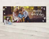 Winter holidays facebook timeline cover template digital PSD - Merry overlay FC054