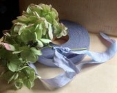 iridescent lilac dupioni silk ribbon