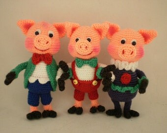 The Three Little Pigs - ToyMagic [Crochet Pattern PDF Instant Download Amigurumi]